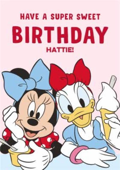 Disney Minnie Mouse And Daisy Duck Super Sweet Birthday Card
