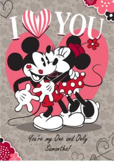 Minnie & Mickey Mouse Valentine's Card