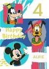 Disney Mickey And Friends Personalised Birthday Card