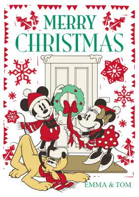 Disney Christmas Cards.Disney Christmas Cards Personalised Disney Christmas Cards