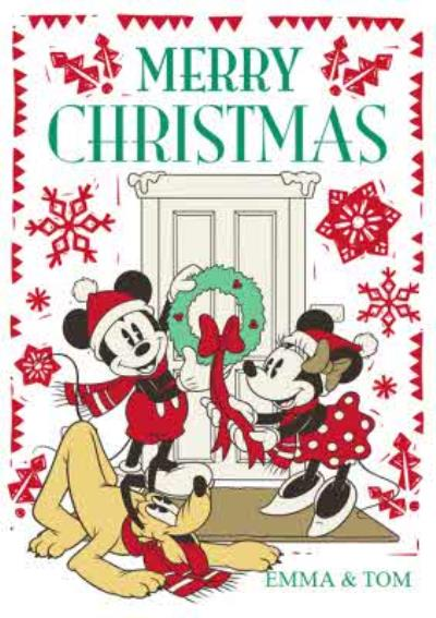 Disney Mickey And Minnie Mouse Personalised Christmas Card