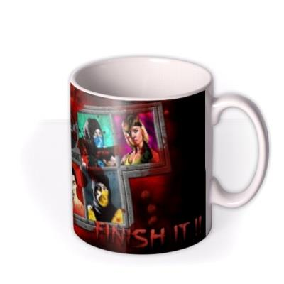 Mortal Kombat Klassic gaming choose your fighter optional photo upload birthday mug