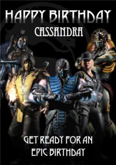 Mortal Kombat X gaming epic birthday card
