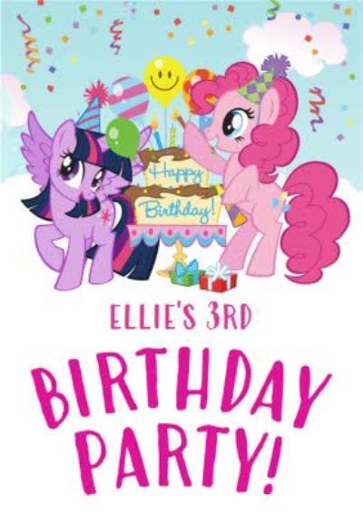 My Little Pony 3Rd Birthday Card