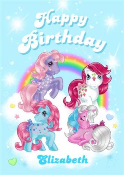 My Little Pony Card - Rainbow Birthday Card