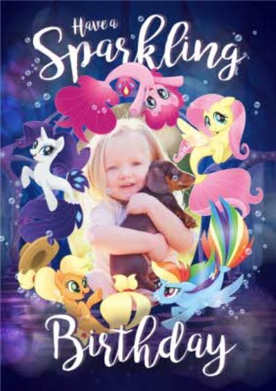 My Little Pony Birthday Card - Photo Upload Card