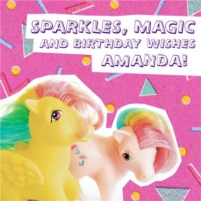 My Little Pony - Sparkles - Magic - Birthday Card