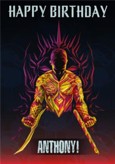 Mortal Kombat Movie Birthday Card