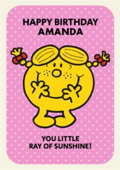 Mr Men And Little Miss You Ray Of Sunshine Birthday Card