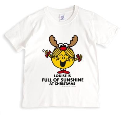 Merry Christmas Little Miss Sunshine Personalised T-shirt
