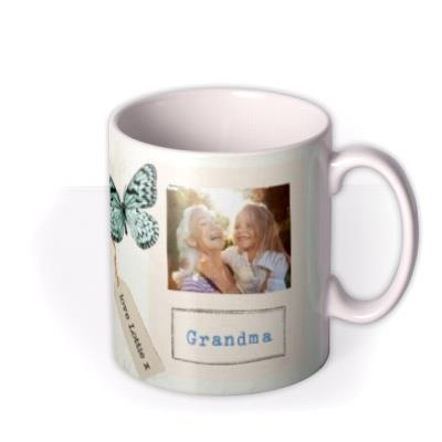 Vintage Collage Mother's Day Photo Upload Mug - Flowers