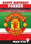 Manchester United Birthday Card