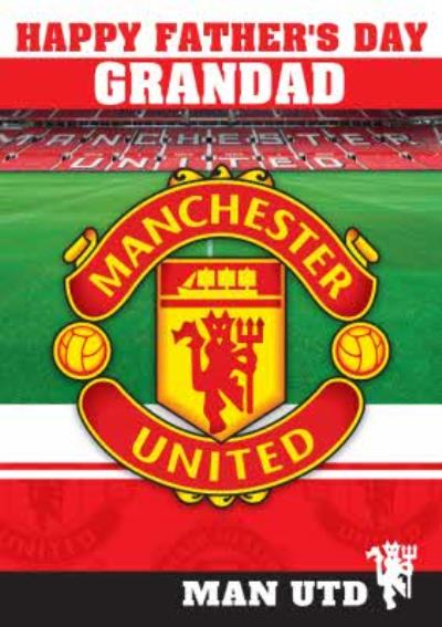 Manchester United Football Happy Father's Day Card