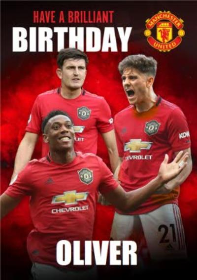 Manchester United FC Football Club Players Birthday Card Card