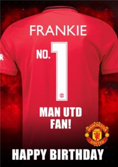 Manchester United FC Football Club No.1 Fan Football Shirt Birthday Card
