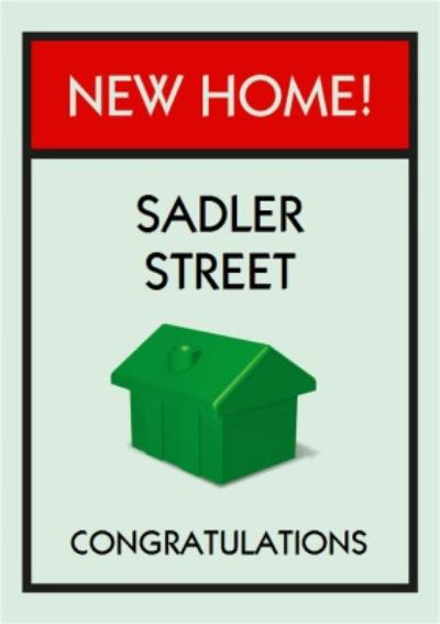 Monopoly New Home Personalised Card