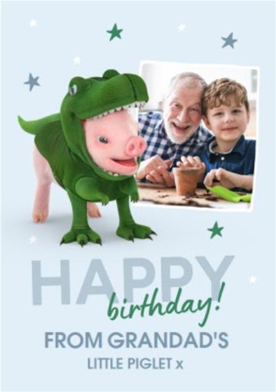 Moonpigs Dinosaur Pig From Grandad's little Piglet Photo Upload Bithday Card