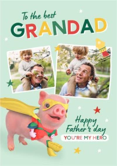 Moonpigs Cute Superpig The Best Grandad Photo Upload Father's Day Card