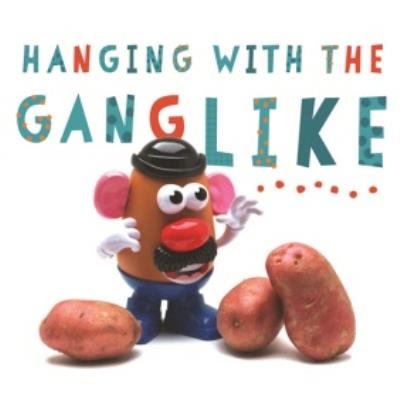 Funny Birthday Card - Hanging with the gang