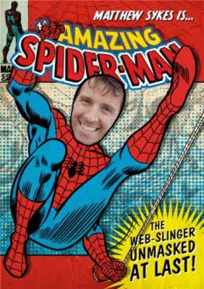 Spiderman Photo Birthday Card