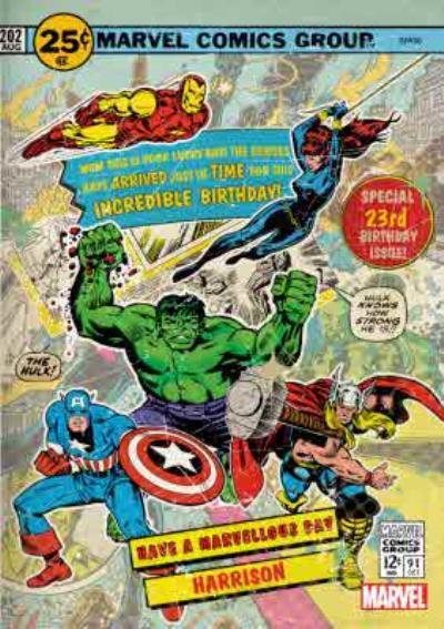 Vintage Avengers Birthday Card