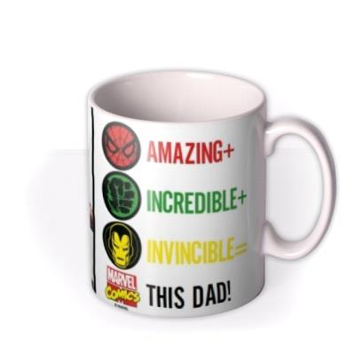 Marvel The Avengers Amazing Dad Photo Mug