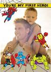 Marvels Cartoon The Avengers Heros Photo Card