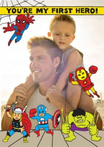 Marvels Cartoon The Avengers Heros Photo Card