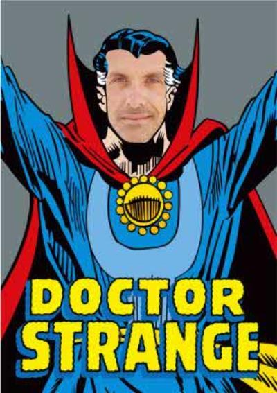 Marvel Doctor Strange Face Upload Card