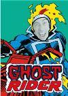 Marvel Ghost Rider Face Upload Card