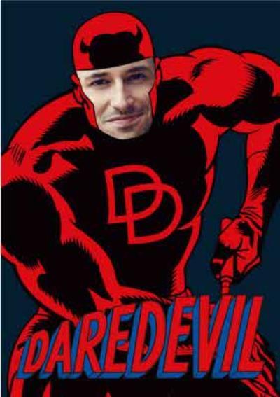 Marvel Daredevil Face Upload Card