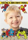 Marvel Superhero Photo Upload Birthday Card