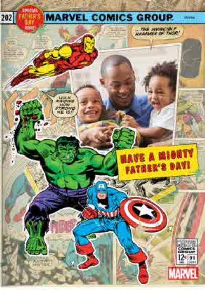 Marvel Action Heroes Father's Day Photo Card