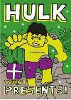 Incredible Hulk Wants Presents Christmas Card