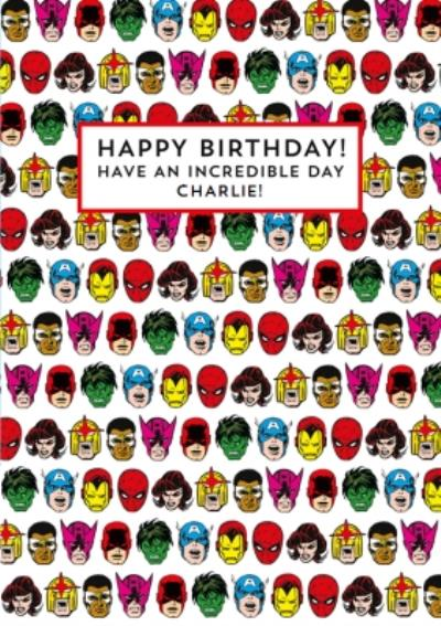 Marvel Superheroes Incredible Birthday Card