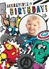Marvel Comics Incredible Birthday photo upload card