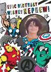 Marvel Comics Nephew Epic Birthday photo upload card