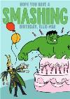 Marvel Comics Incredible Hulk and Loki funny birthday card