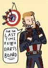 Marvel Comics Captain America funny birthday card