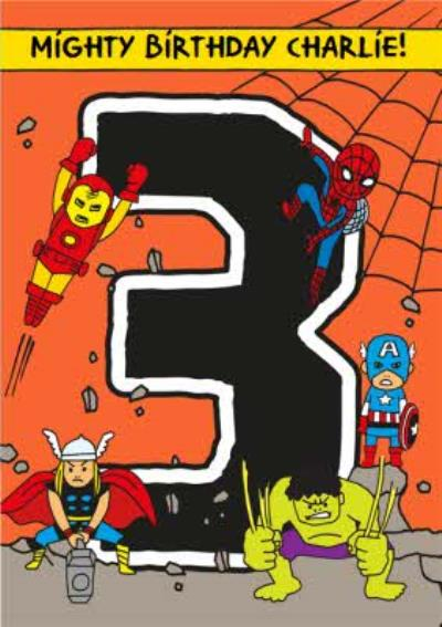 Marvel Comics Mighty 3rd Birthday Card