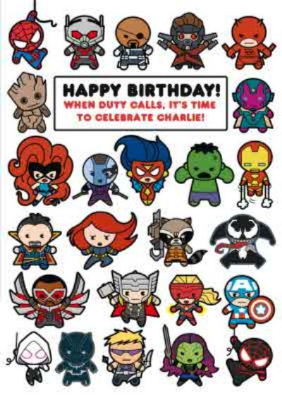 Marvel Comics When Duty It's Time To Celebrate Birthday Card