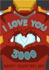 Marvel Avengers Endgame I love you 3000 Valentine's Day Card