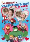 Marvel Comics Assemble Valentine's Day Is Here Photo Upload Card