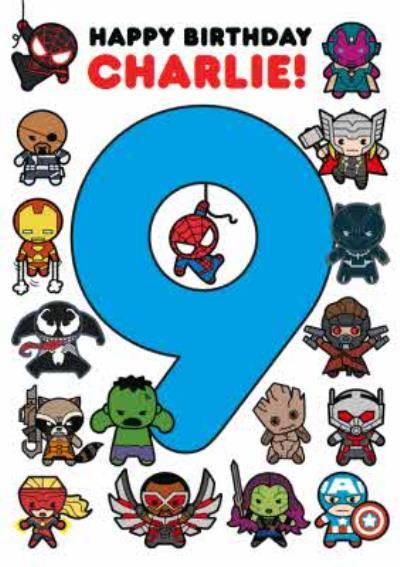 Marvel Comics Characters 9 Card