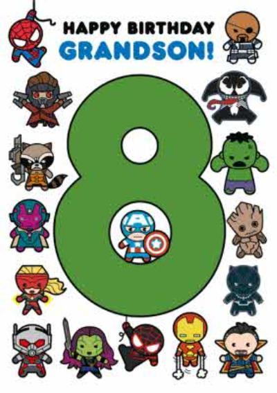 Marvel Comics Characters 8 Grandson Card