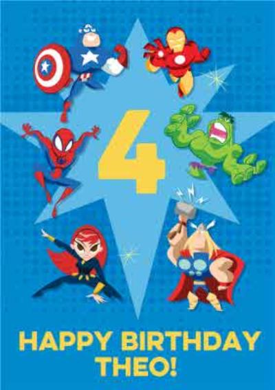Marvel Comics Characters Happy Birthday Card