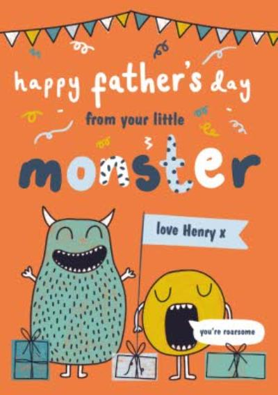 From Your Little Monster You're Roarsome Happy Father's Day Card