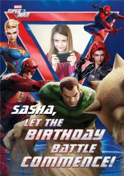 Marvel Super War Birthday Battle Photo Upload Card