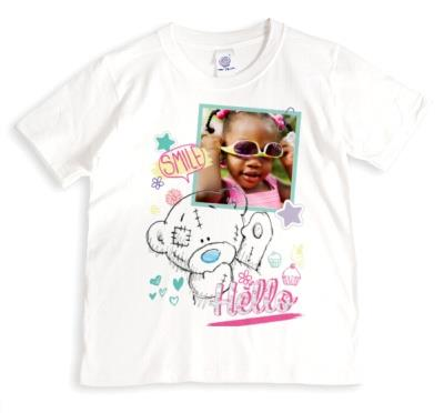 Tatty Teddy Smile, Hello, and Star Print Photo Upload T-Shirt