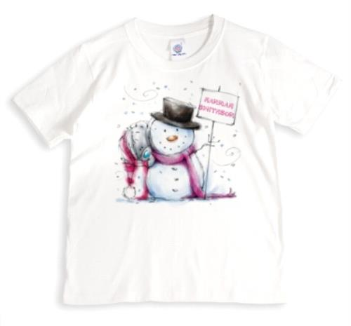 PERSONALISED MERRY CHRISTMAS SNOWMAN T-SHIRT